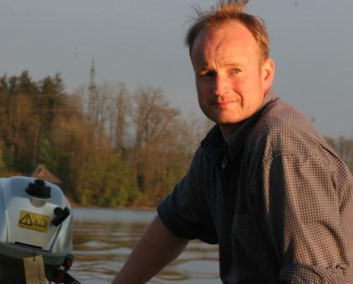Markus Payr am Teich